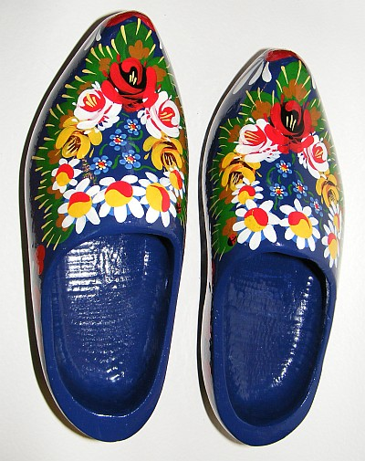 Painted Dutch clogs